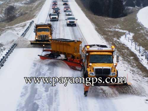 جی پی اس روی ماشین های برف روب