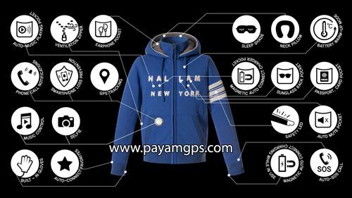 ردیاب جی پی اس تعبیه شده در ژاکت هوشمند برای ردیابی کودکان، اشیا و ردیابی موبایل
