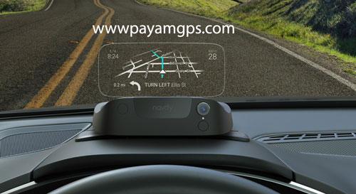 نمایشگر Navdy با قابلیت نمایش میزان سرعت ماشین، نقشه جی پی اس با وصل شدن ردیاب موبایل