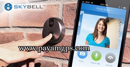 زنگ در SkyBell با قابلیت پاسخ از طریق تلفن همراه