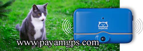 قلاده Safecat مجهز به ردیاب جی پی اس برای مراقبت گربه