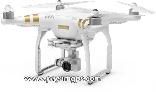 دوربین هلی شات DJI Phantom 3 مجهز به ردیاب جی پی اس