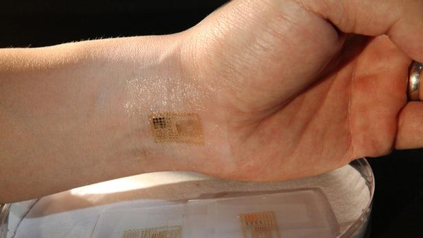 حفظ سلامت افراد با الکترونیک نصب شده روی پوست