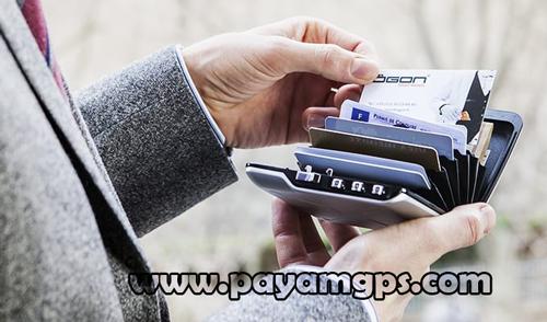 کیف پول رمز دار MINI SAFE WALLET مجهز به ردیاب