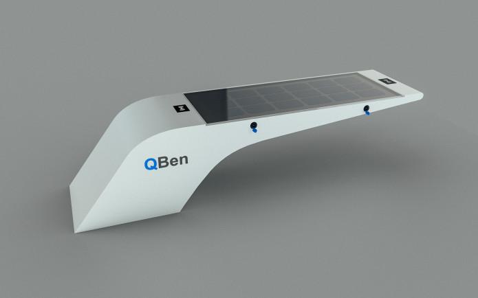 نیمکت هوشمند QBen Wave با قابلیت شارژ الکترونیکی و شارژ اینترنت